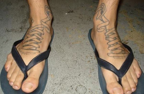 Shoe Lace Tattoo?